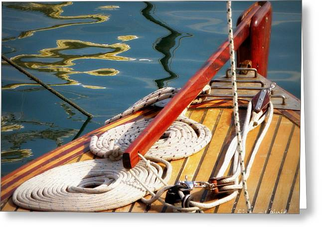Sailing Dories 4 Greeting Card by Lainie Wrightson