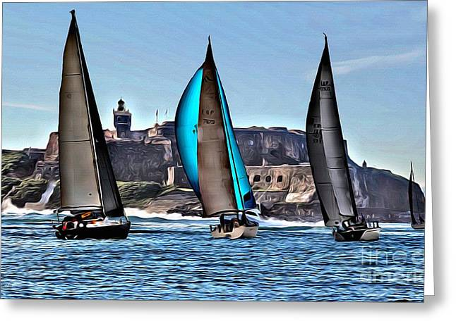 Sailing El Morro  Greeting Card by Carey Chen