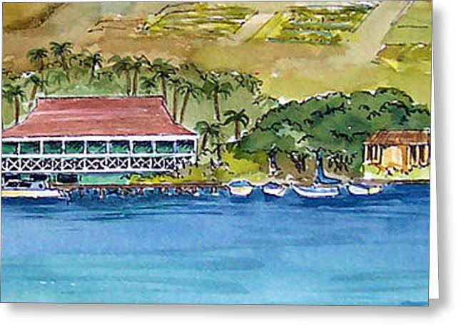 Lahaina Greeting Cards - Sailing Into Lahaina Greeting Card by Bonnie Sue Schwartz