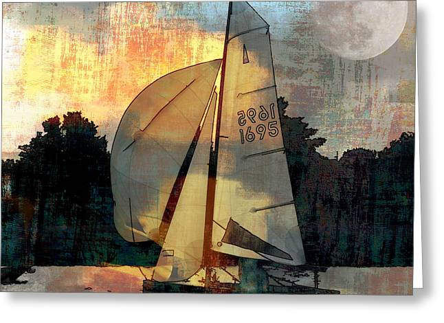 Lemon Art Greeting Cards - Sailing into the Sunset Greeting Card by LemonArt Photography