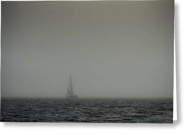 Sailboat Ocean Greeting Cards - Sailing Into The Unknown Greeting Card by Paloma Trujillo