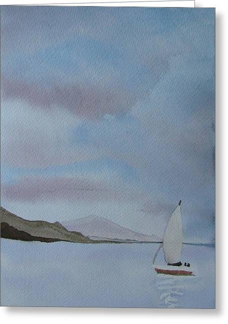 Sailing Greeting Card by Liz Vernand