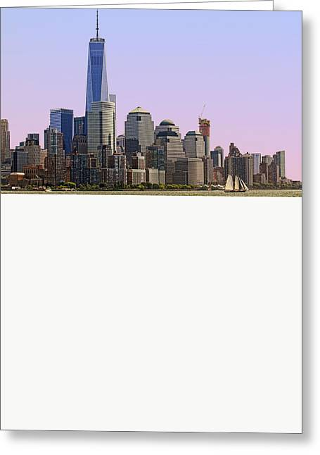 Sailboat Art Greeting Cards - Sailing on the Hudson River Greeting Card by Geraldine Scull