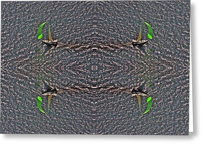 Oriental Rug Greeting Cards - Sailing Patterns Greeting Card by Duncan Pearson