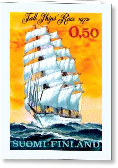 Historic Schooner Greeting Cards - Sailing School Ship Greeting Card by Lanjee Chee