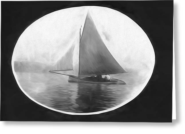 Sailboat Images Greeting Cards - Sailing in New York Greeting Card by Susan Lupton