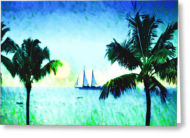 Sailing The Keys Greeting Card by Bill Cannon