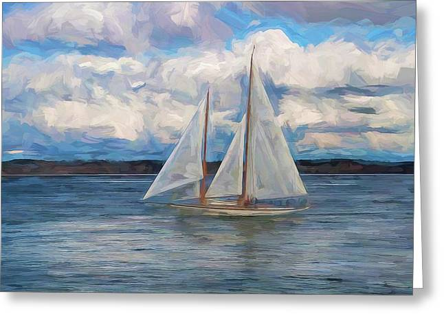 Sailing Through The Clouds Greeting Card by Dan Sproul