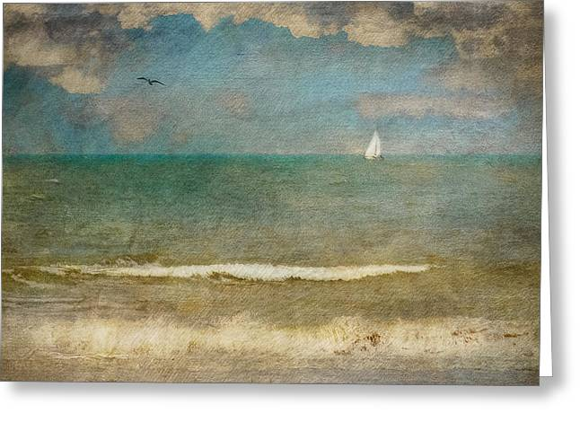 Scheveningen Greeting Cards - Sailing To Nowhere Greeting Card by Constance Fein Harding