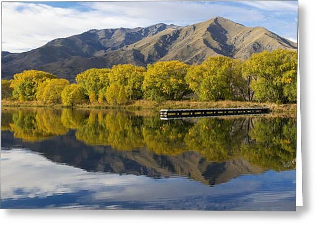 Willow Lake Greeting Cards - Sailors Cutting Lake Benmore Greeting Card by Robert Green