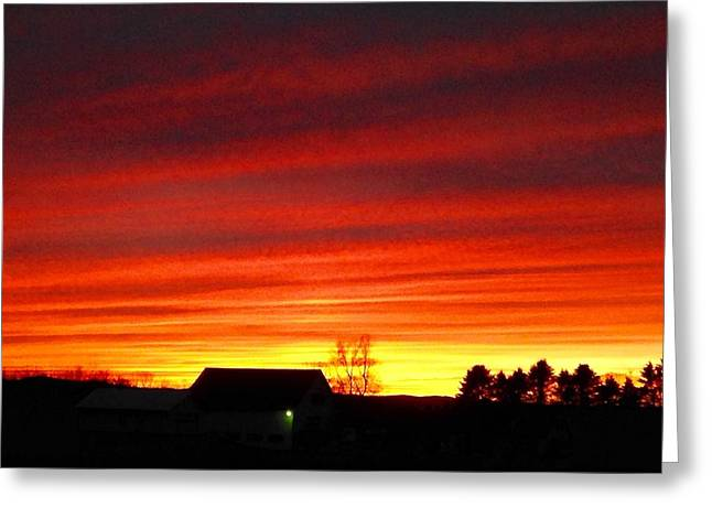 Maine Farmhouse Greeting Cards - Sailors Delight Greeting Card by Gloria Houlne