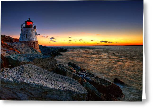 Rocky Shorelines Greeting Cards - Sailors Delight Greeting Card by Neil Shapiro