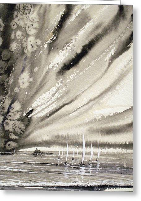 Sails At St.michaels Greeting Card by Keran Sunaski Gilmore