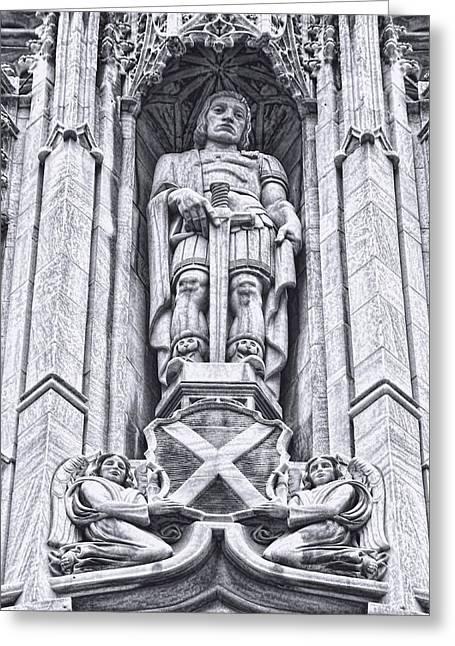 Saint Alban Statue Greeting Card by Diana L Elliott