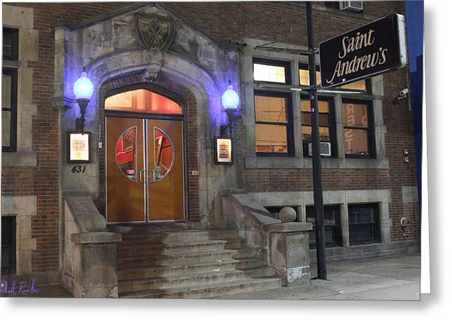 Andrew Michael Greeting Cards - Saint Andrews Music Hall Greeting Card by Michael Rucker