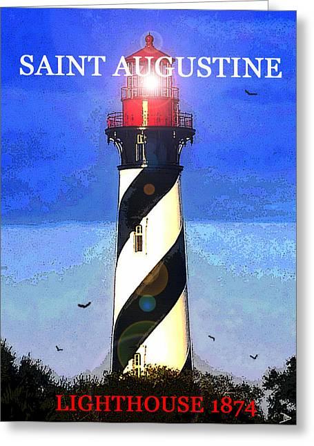 1874 Digital Greeting Cards - Saint Augustine Lighthouse 1874 Greeting Card by David Lee Thompson