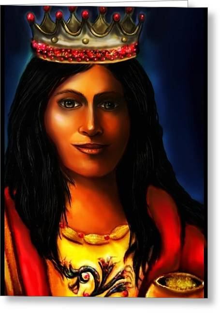 Saint Barbara Greeting Cards - Saint Barbara Greeting Card by Carmen Cordova