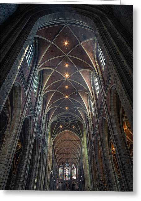Belgium Photographs Greeting Cards - Saint Bavos Cathedral Greeting Card by Chris Fletcher