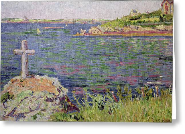 Croix Greeting Cards - Saint Briac Greeting Card by Paul Signac