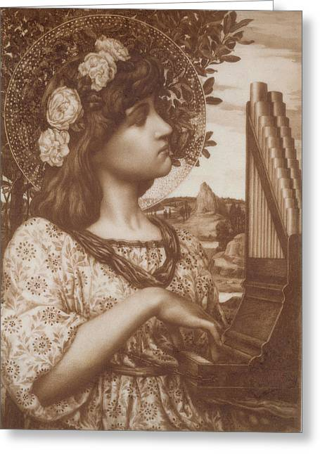 Sit-ins Drawings Greeting Cards - Saint Cecilia Greeting Card by Henry Ryland
