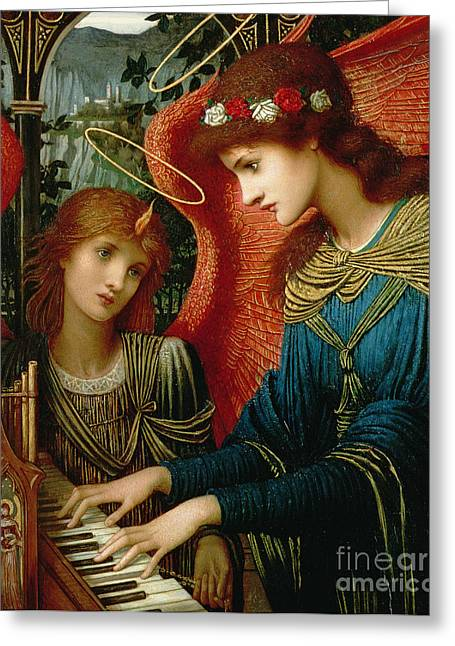 Playing Music Greeting Cards - Saint Cecilia Greeting Card by John Melhuish Strukdwic