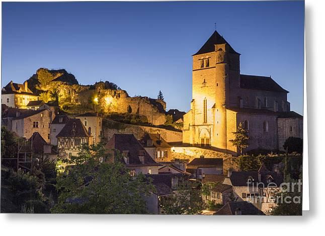 Midi Greeting Cards - Saint Cirq Twilight Greeting Card by Brian Jannsen