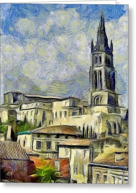 Van Gogh Greeting Cards - Saint Emilion Greeting Card by Bishopston Fine Art