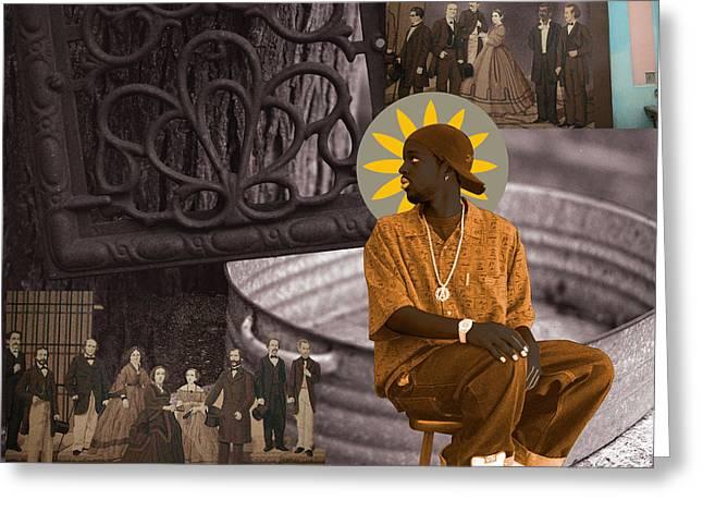 African Ancestry Greeting Cards - Saint Greeting Card by Fern Logan