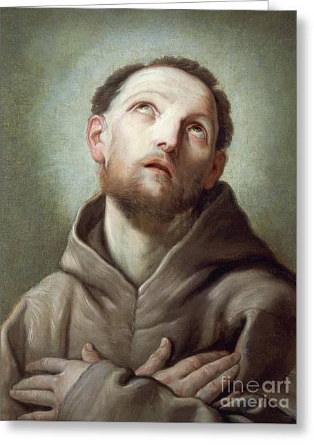 Saint Francis  Greeting Card by Guido Reni