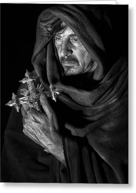 Francis Greeting Cards - Saint Francis Greeting Card by Hans Wolfgang Muller Leg