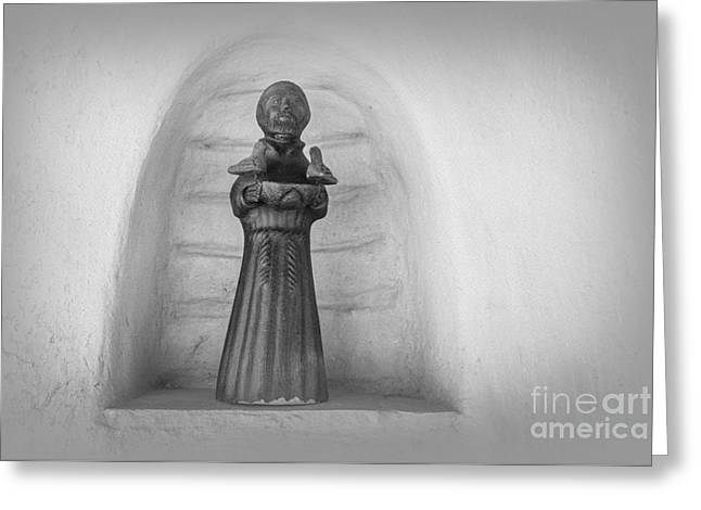 Francis Greeting Cards - Saint Francis Greeting Card by Lynn Sprowl