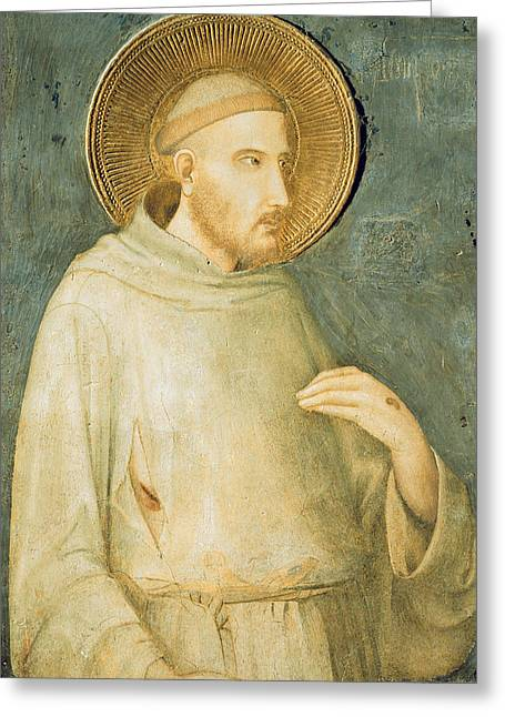 Saint Francis Greeting Card by Simone Martini