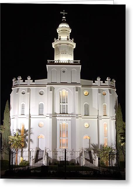 St. George Temple Greeting Cards - Saint George Temple Greeting Card by John Wunderli