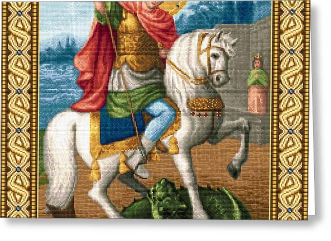 Saint George Victory Bringer Greeting Card by Stoyanka Ivanova