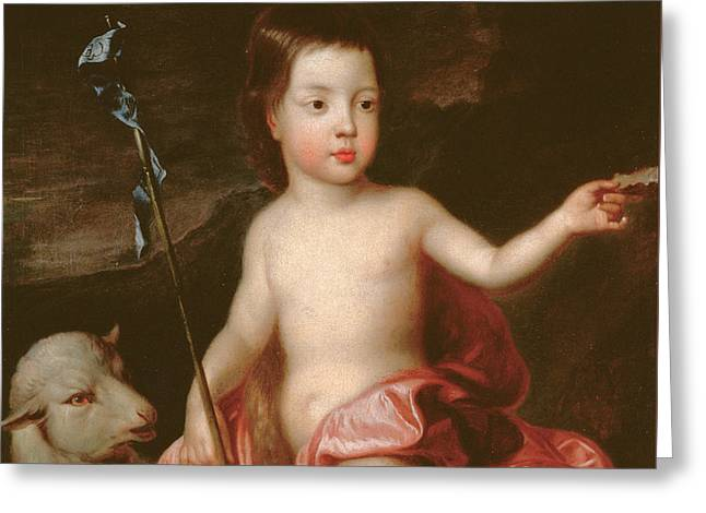 Saint John Greeting Cards - Saint John the Baptist in the Wilderness Greeting Card by Sir Godfrey Kneller