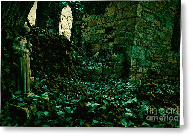 Overgrown Greeting Cards - Saint Johns Chapel Seven Greeting Card by Susan Isakson