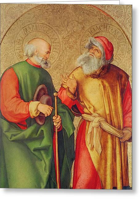 Saint Joseph And Saint Joachim Greeting Card by Albrecht Durer or Duerer