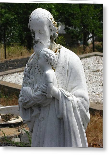 Headstones Greeting Cards - Saint Joseph Greeting Card by Peter Piatt