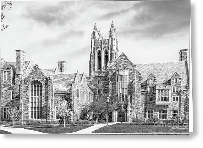 Saint Joseph's University Barbelin/ Lonergan Hall Greeting Card by University Icons