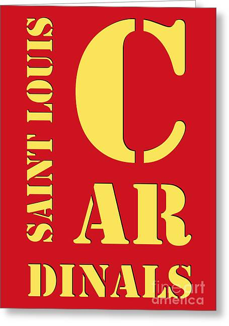 Saint Louis Cardinals Typography Red Greeting Card by Pablo Franchi
