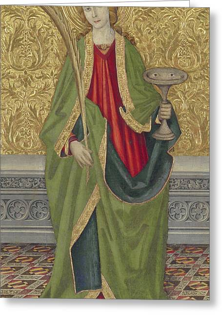 Saint Lucy Greeting Card by Jaume the younger Vergos