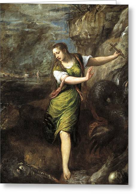 Saint Margaret  Greeting Card by Titian