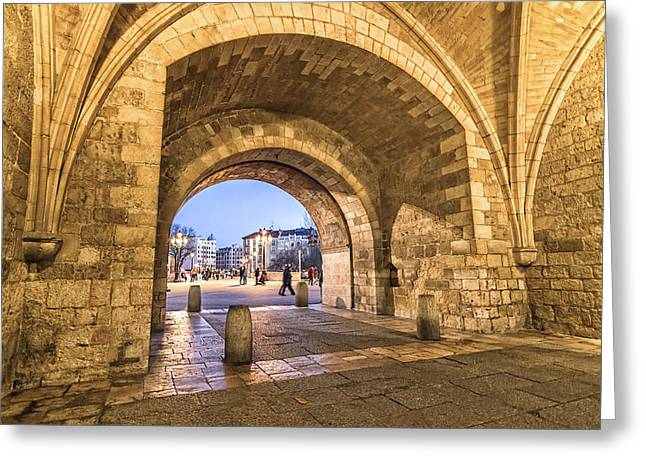 Medieval Temple Greeting Cards - Saint Mary Arch Greeting Card by JJF Architects