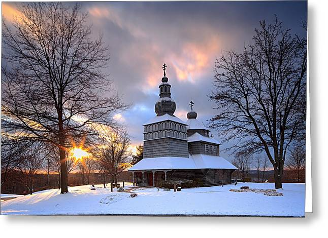 Gypsy Greeting Cards - Saint Nicholas Chapel Greeting Card by Emmanuel Panagiotakis