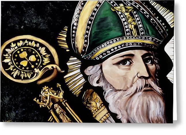 Saint Patrick Greeting Card by Leeann Stumpf