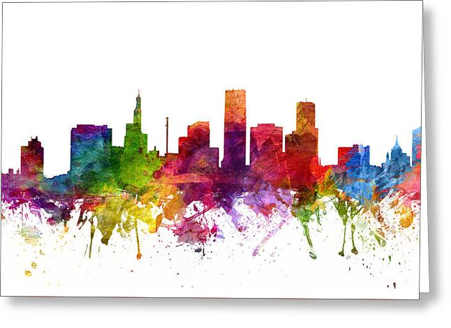 Paul Drawings Greeting Cards - Saint Paul Cityscape 06 Greeting Card by Aged Pixel