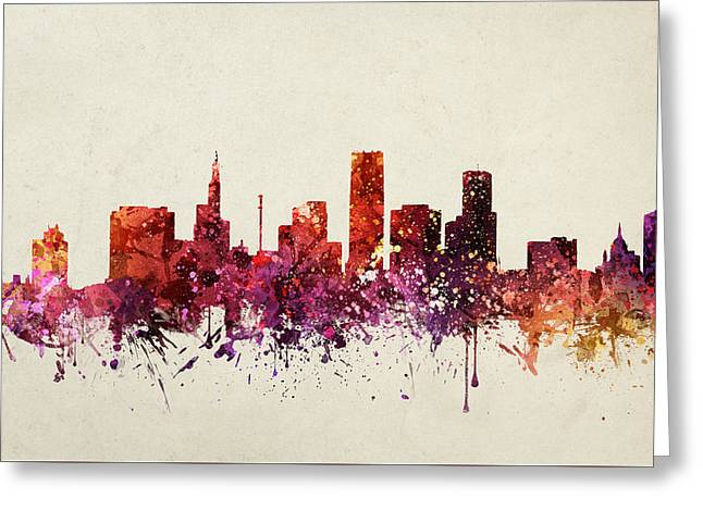 Paul Drawings Greeting Cards - Saint Paul Cityscape 09 Greeting Card by Aged Pixel