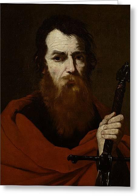 Martyr Greeting Cards - Saint Paul  Greeting Card by Jusepe de Ribera