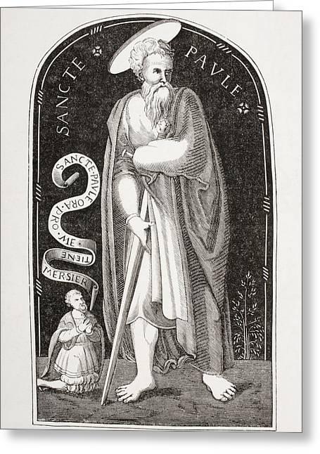 Testament Greeting Cards - Saint Paul. Paul Of Tarsus. Paul The Greeting Card by Ken Welsh