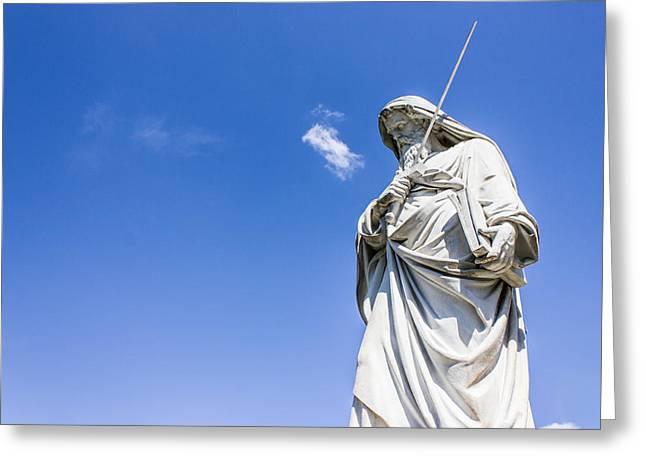 Statue Portrait Greeting Cards - Saint Paul Statue Greeting Card by Paolo Broggi